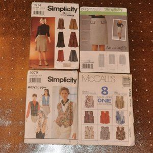 Skirt and Vest Sewing Patterns